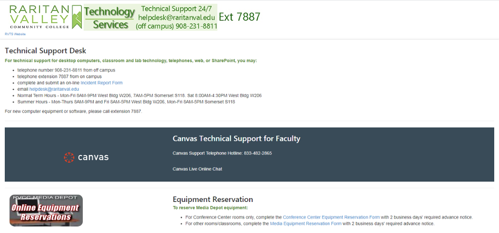 Help Desk for Faculty